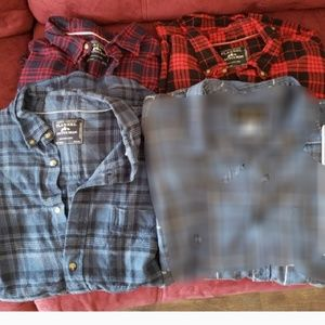 Other - 3 mens plaid flannel shirts